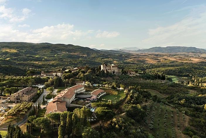 Luftaufnahme Castelfalfi Resort ©Toscana Resort Castelfalfi
