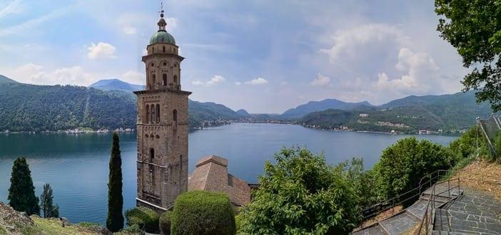 Morcote mit Blick auf den Lago di Lugano