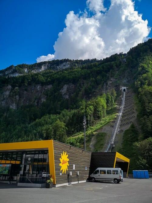 Stoosbahn mit weltweit steilster Rampe