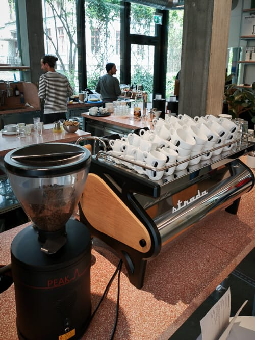 Strada Kaffeemaschine des Miró Coffee