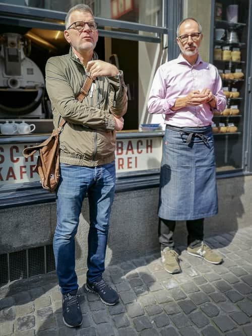Tour-Guide Urs Schindler und Heinrich Schwarzenbach