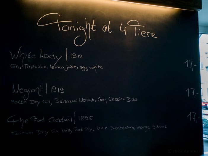 Tonight at 4 Tiere - Cocktails des Tages