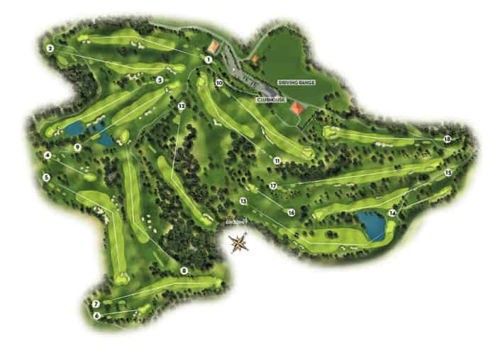 Fairways der Golfplatzanlage Golf Basozabal
