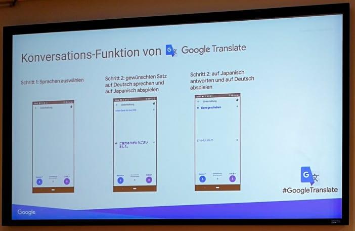 Übersetzungsmodi von Google Translate