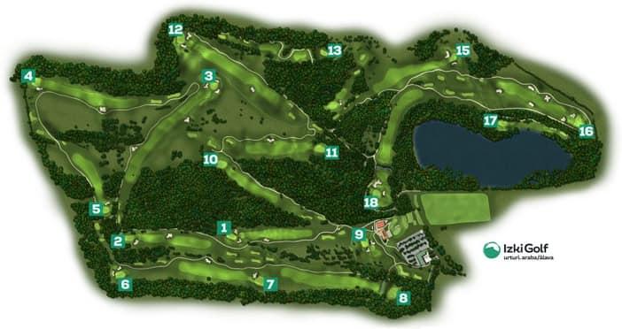 Layout des Izki Golfplatzes