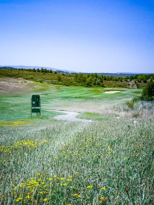 Loch 17 des Logroño Golfplatzes