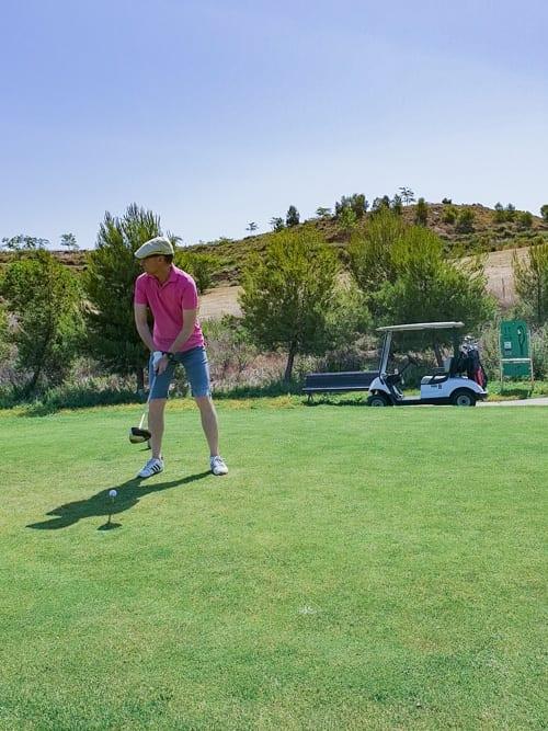 Walter am Tee 11 des Logroño Golf