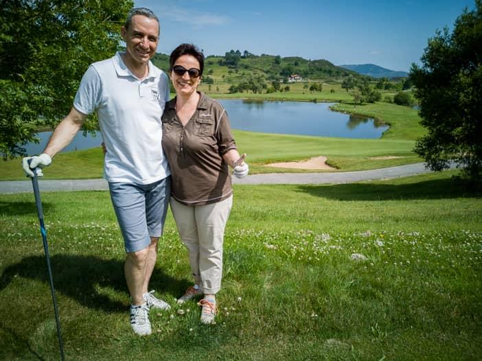 Walter und Katja im Meaztegi Golf