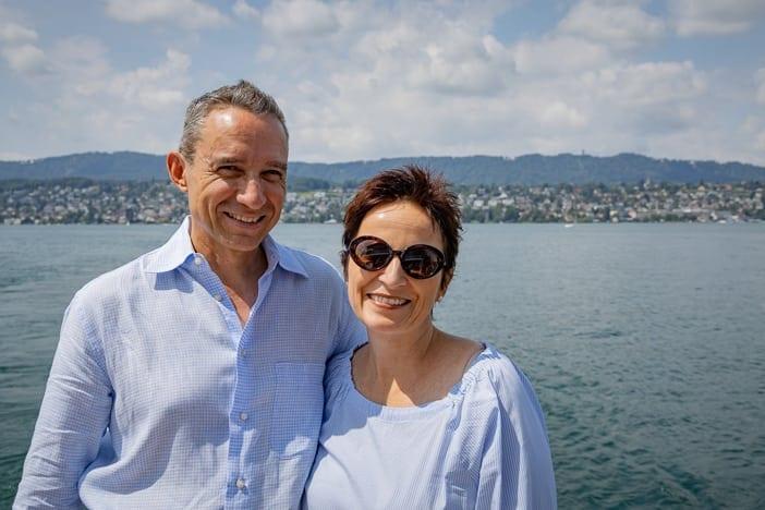 Walter und Katja auf dem Sommer-Brunch-Schiff auf dem Zürichsee