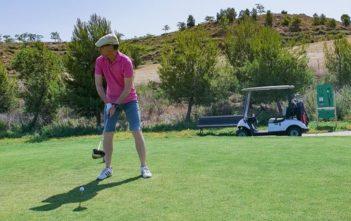 Walter schlägt ab im Logroño Golf in Spanien