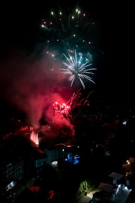 Feuerwerk über Crans Montana