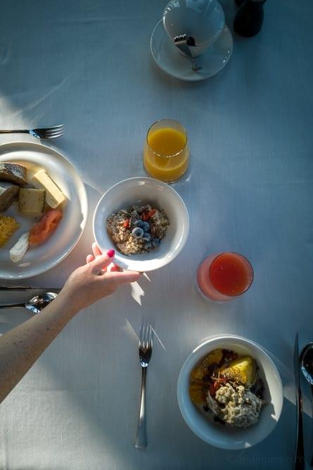 Frühstück im Crans Ambassador