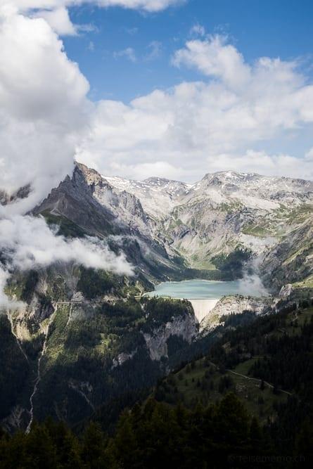 Stausee Lac de Tseuzier Crans-Montana
