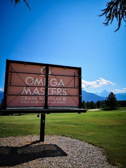 Anzeige für das Omega Masters im Golf Club Crans-sur-Sierre