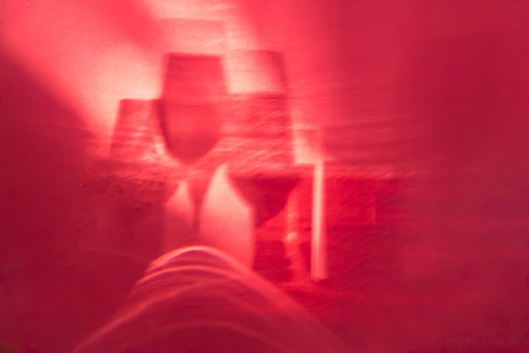 Schattenspiel im Restaurant El Gastronómico des Hotels Marqués de Riscal