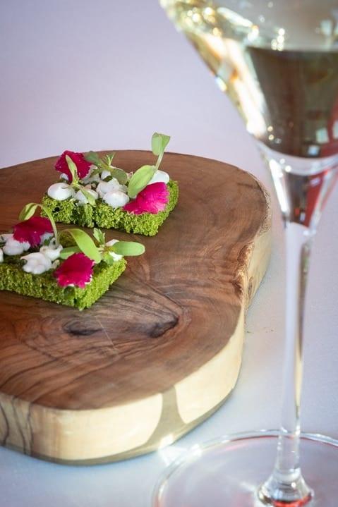 Vorspeise wie frisch von der Weide im Restaurant Gastronómico des Marqués de Riscal