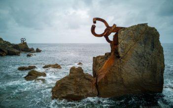 Peine del Viento Skulpturen von Eduardo Chillida bei San Sebastián
