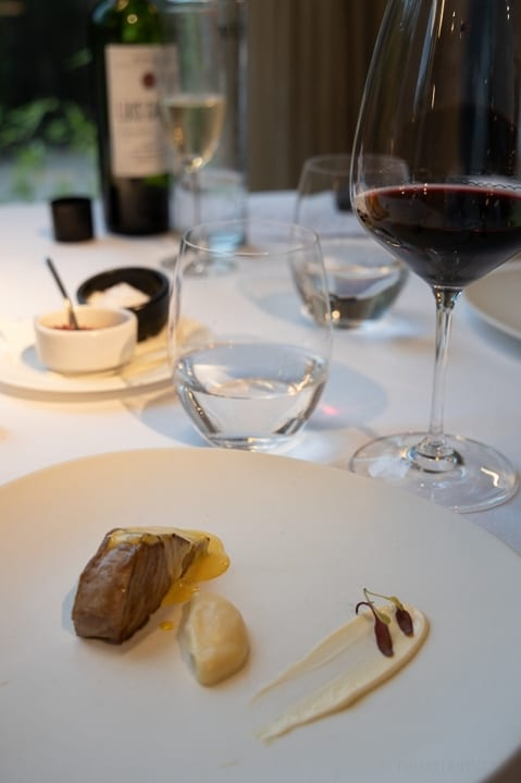 Thunfischfilet auf Pastinak im Cuisine Restaurant des Designhotels Viura in Villabuena de Álava