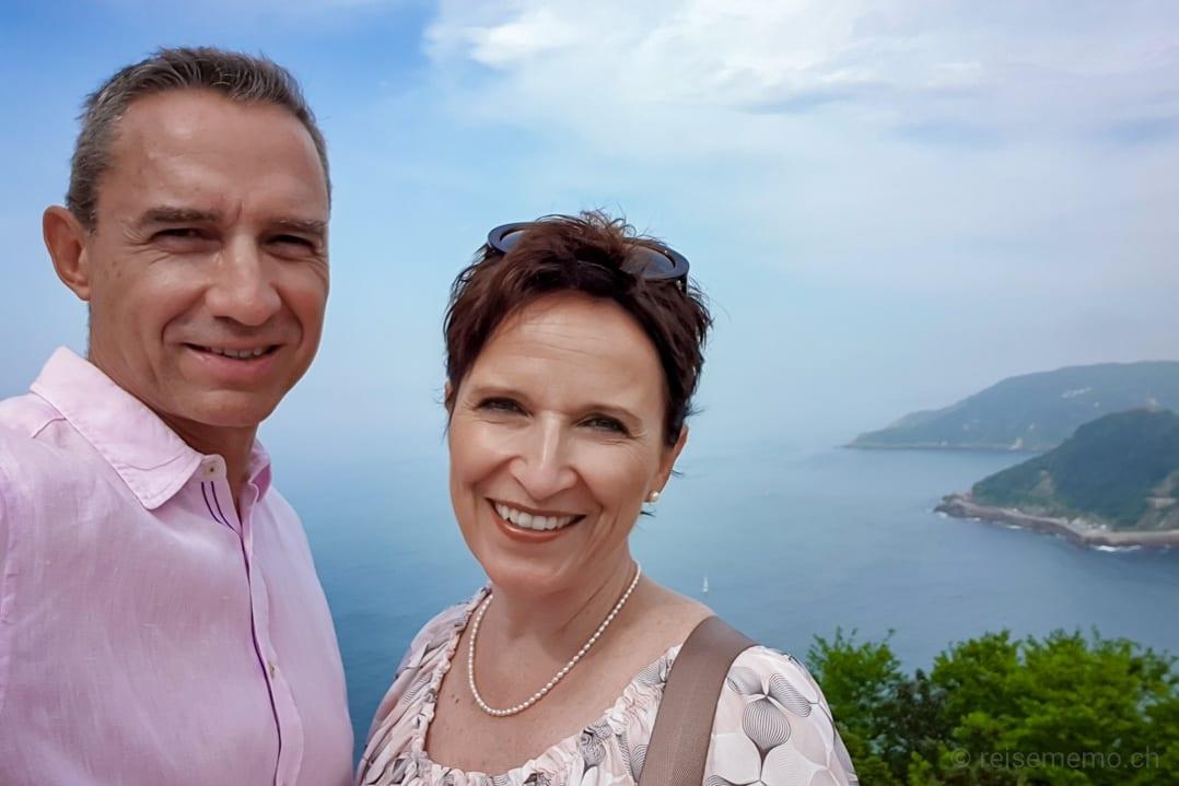 Walter und Katja auf dem Monte Igueldo bei San Sebastián