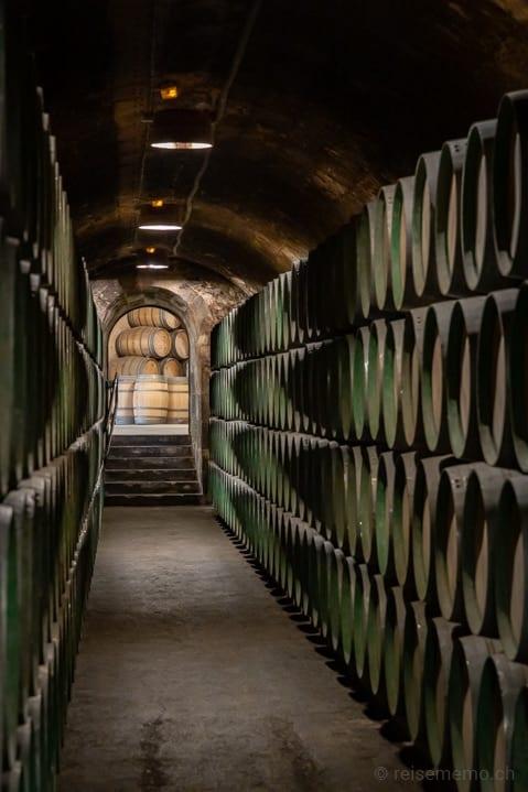 Historischer Weinkeller der Marqués de Riscal in Elciego