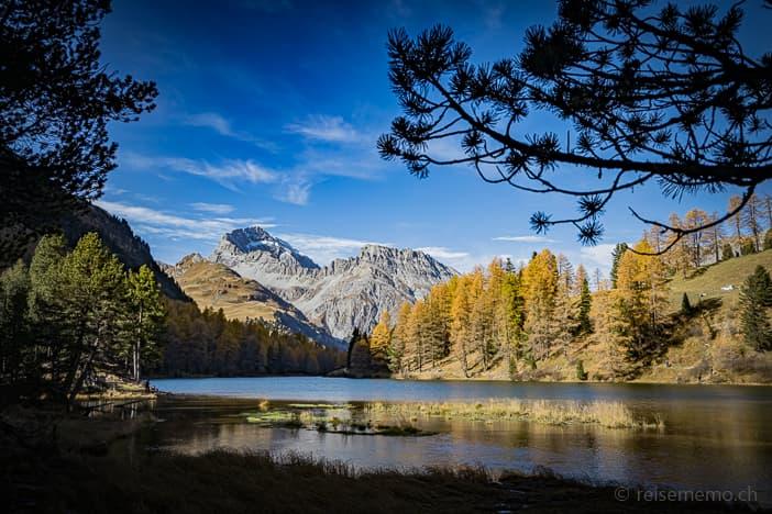 Herbstlicher Palpuognasee oberhalb von Preda