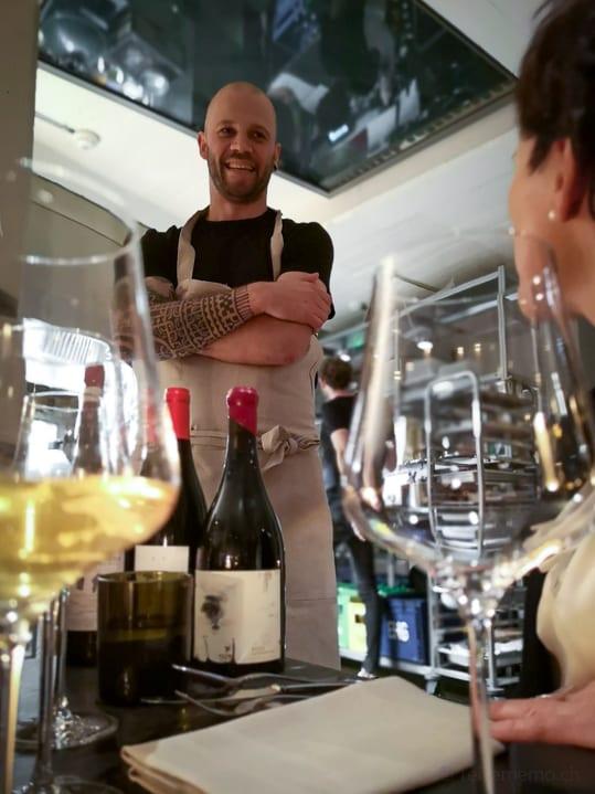 Chris Züger im Restaurant Mémoire