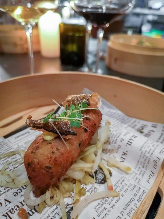 Fischkrokette im Restaurant Mémoire Zürich