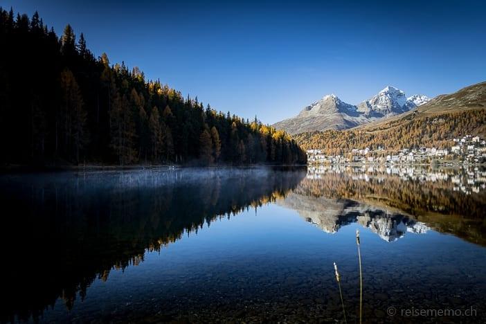 Ausflugsziel, Graubünden, Piz Albana, Piz Julier, St. Moritz, St. Moritzersee, https://reisememo.ch/schweiz/lej-da-staz-wanderung-st-moritz