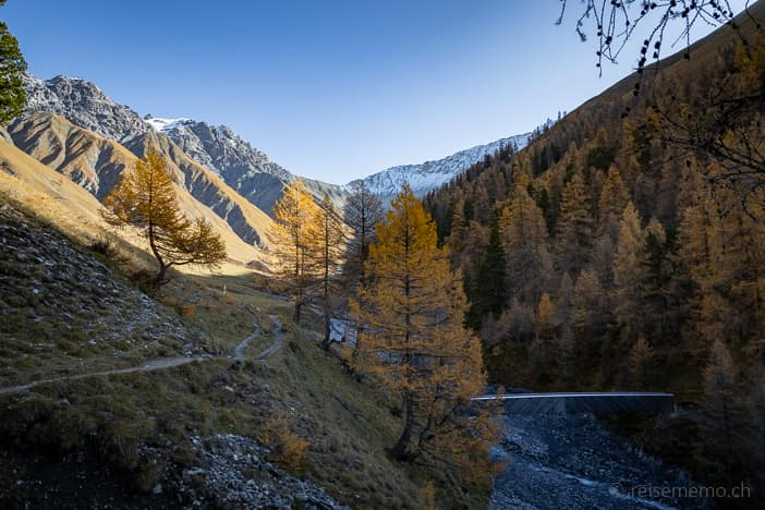 Ausflugsziel, Graubünden, Herbst, Herbstwanderung, Val Trupchun, Wanderung, Zernez, https://reisememo.ch/europa/schweiz/val-varusch-alp-trupchun-schweizer-nationalpark, wandern