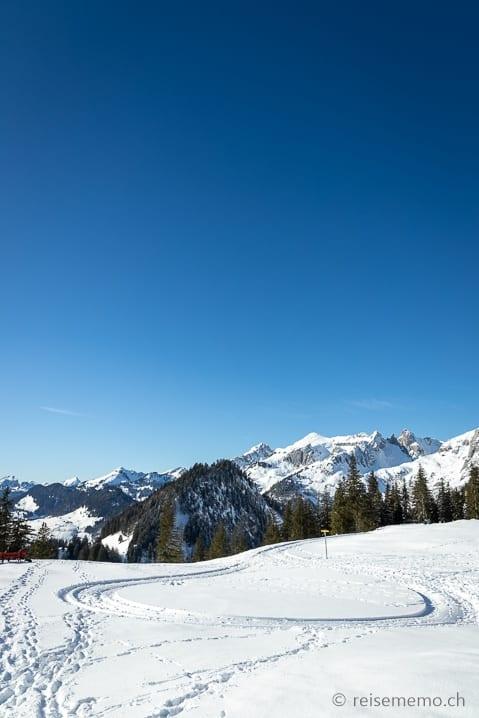 Ende des Wanderwegs auf der Alp Fros