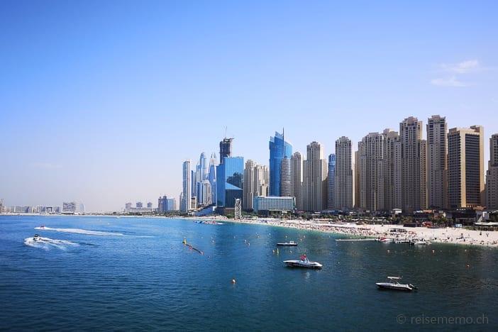 Strand bei der Jumeirah Beach Residence