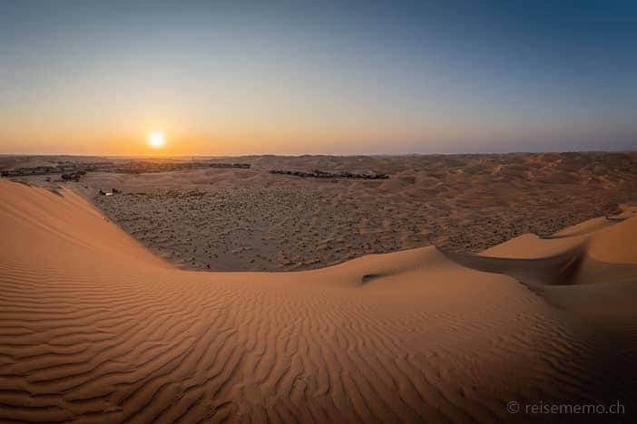 Sonnenaufgang in der Liwa-Oase