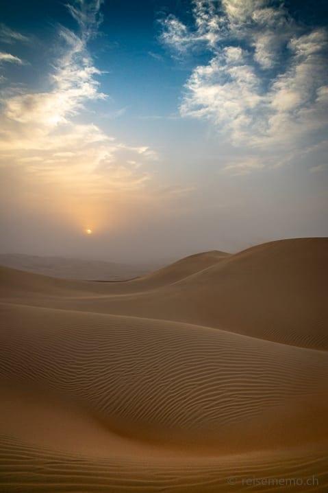 Sonnenuntergang über der Sanddüne