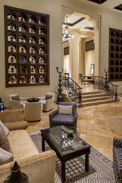 Lobby des Luxushotels