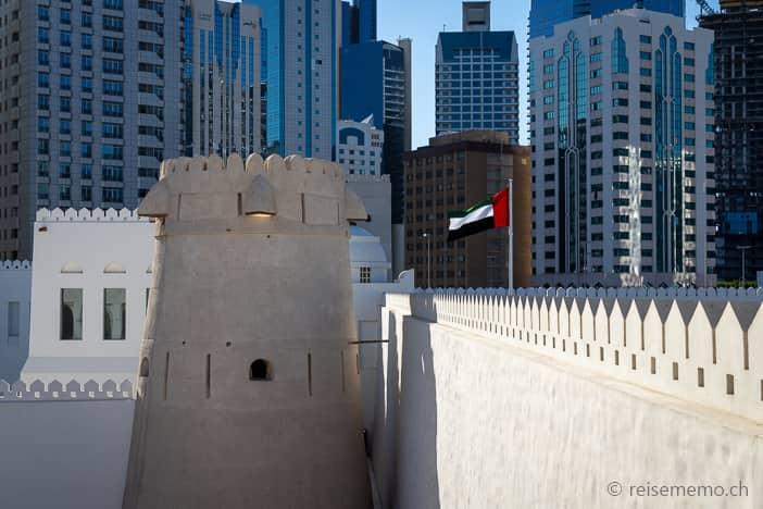 Qasr Al Hosn Zinnen der Festungsmauern
