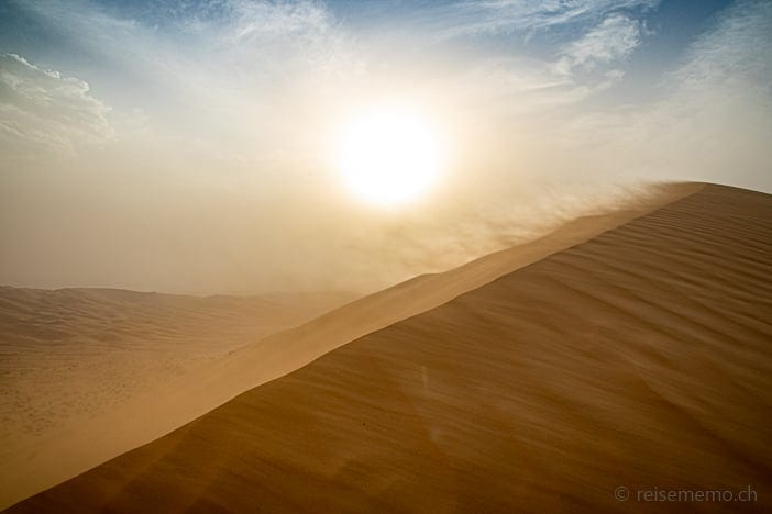 Sandsturm in der Rub al-Khali Wüste