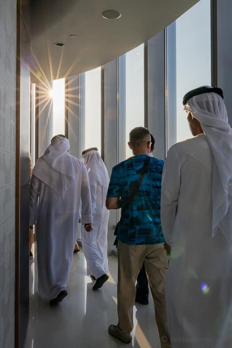Scheichs auf dem Burj Khalifa