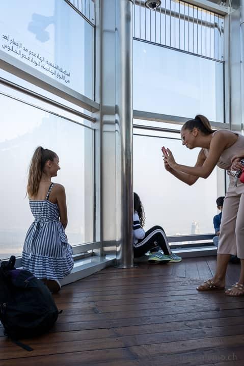Selfiemania auf dem Burj Khalifa