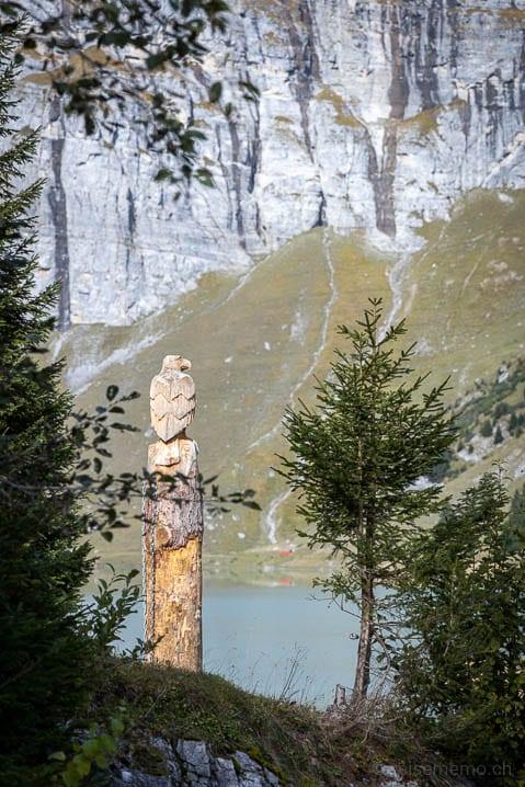 Holzadler am Lag da Pigniu