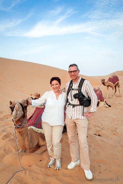 Kamelreiten in der Rub al-Khali Wüste