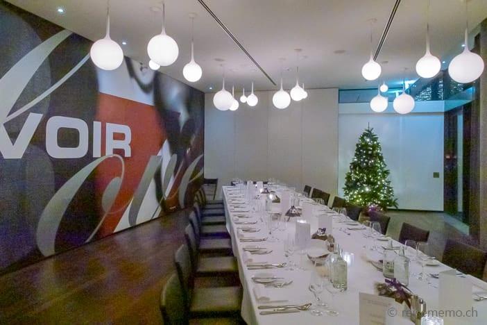 Bankettsaal des Hotel Belvoir an Weihnachten