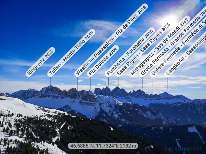 Dolomiten-Panoramawanderung zur Rossalm