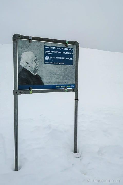 Philosophenweg Muottas Muragl, Conrad Ferdinand Meyer: Was langsam reift, das altert spät