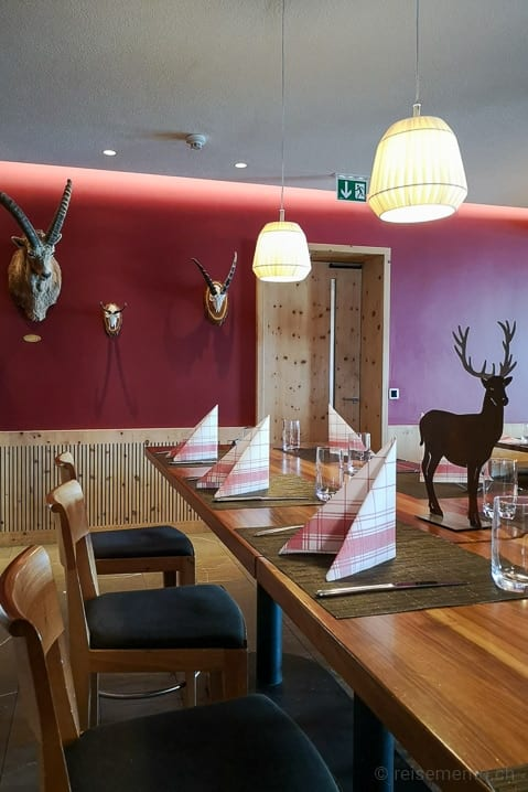 Restaurant des Romantikhotels Muottas Muragl