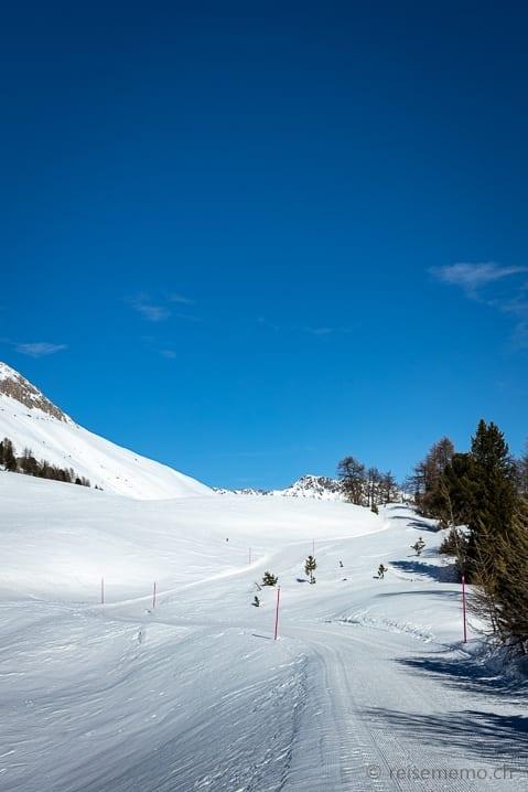 Alp Laret Winterwanderung St.Moritz/Chantarella nach Corviglia