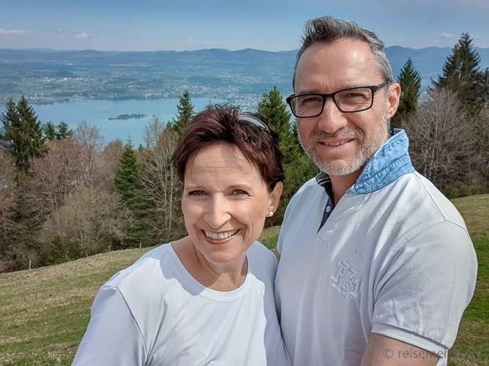 Katja und Walter auf dem Etzel Kulm