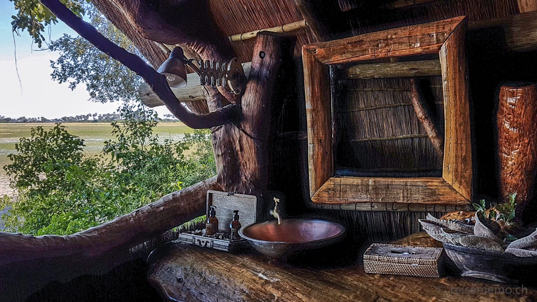 Aussicht von der Toilette des Tubu Tree Restaurants