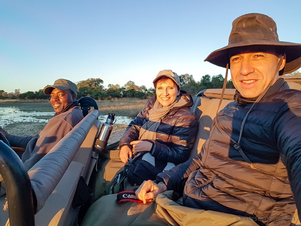 Katja und Walter auf Safari mit Guide Kambango