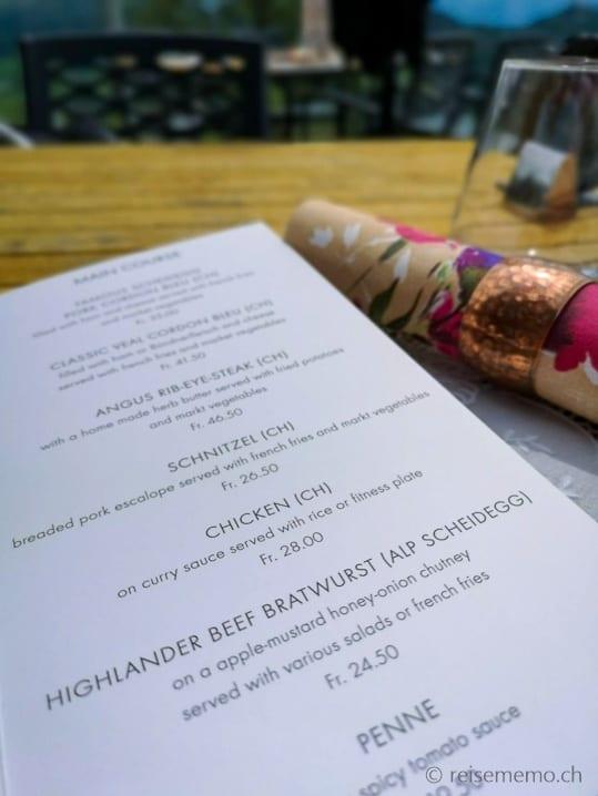 Empfehlenswerte Bratwurst vom schottischen Hochlandrind (aus der Alp Scheidegg)