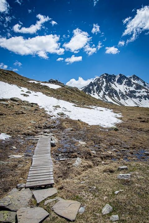 Camona da Maighels, Graubünden, Maighels Hütte, Piz Alpetta, Piz Piogn Crap, Wanderung, Wanderweg, wandern